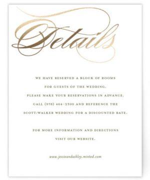 We Do. Foil-Pressed Direction Cards