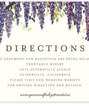 Wisteria Blooms Directions Cards