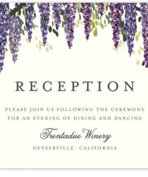 Wisteria Blooms Reception Cards