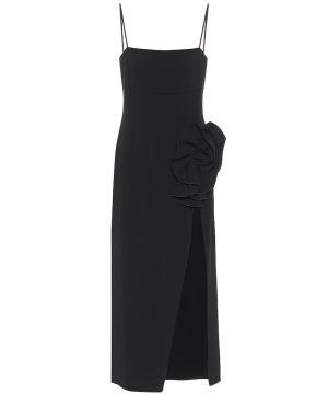 Wool-blend slip dress