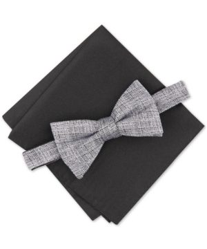 Alfani Men's Kelsey Solid Bow Tie Set, Created for Macy's