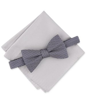 Alfani Men's Neat Bow Tie & Solid Pocket Square Set, Created for Macy's