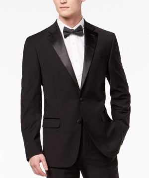 Calvin Klein Men's X-Fit Slim-Fit Infinite Stretch Black Tuxedo Jacket
