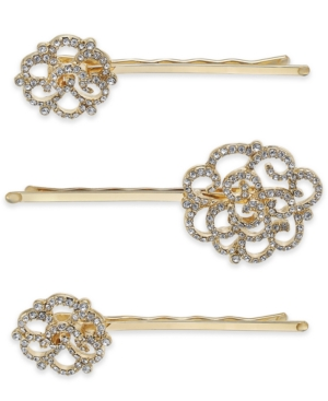 Inc International Concepts Gold-Tone 3-Pc. Set Pave Hair Pins, Created for Macy's