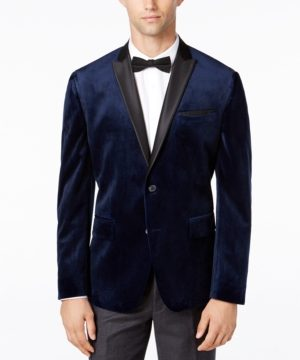 Inc Men's Mason Slim-Fit Velvet Blazer, Created for Macy's
