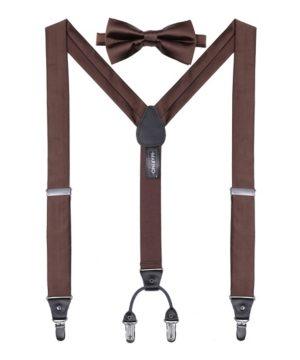Mio Marino Men's Sharp Dressed Suspenders Bow Tie Set