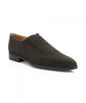 Olive Suede Dress Shoe