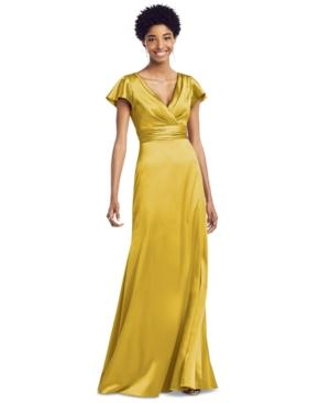 Social Bridesmaids Flutter-Sleeve Maxi Dress