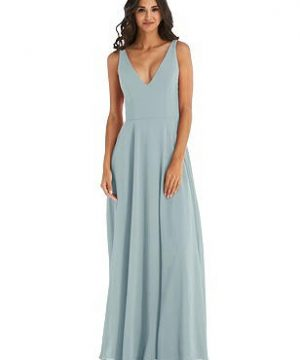 Special Order Deep V-Neck Chiffon Maxi Dress