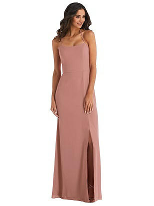 Special Order Spaghetti Strap Tie Halter Backless Trumpet Gown