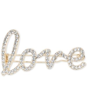 lonna & lilly Gold-Tone Pave Love Hair Barrette